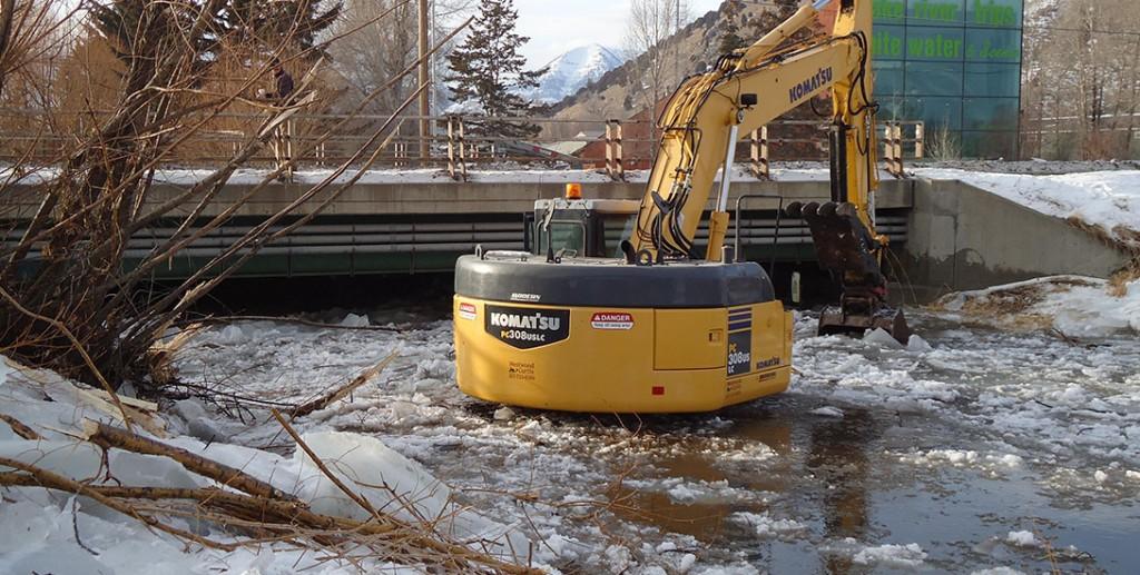 Flat Creek Emergency Ice Reomoval
